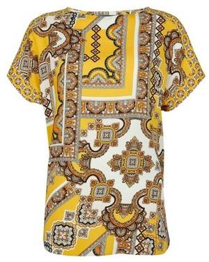Dorothy Perkins Womens **Tall Yellow Tile Print T