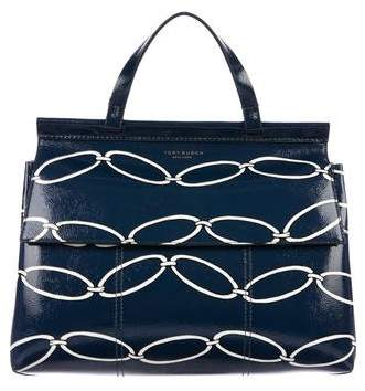 Tory Burch Printed Patent Leather Satchel