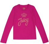 Juicy Couture Outlet - GIRLS LOGO JUICY STUD SCRIPT LONG SLEEVE TEE