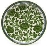 Made in India Blue Pottery Small Green Floral Decorative Plate
