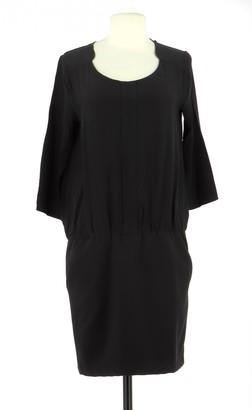 Comptoir des Cotonniers Black Silk Dress for Women