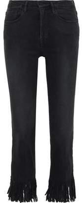 Frame Le Crop Mini Fringed Mid-rise Slim-leg Jeans