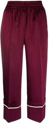 RED Valentino Cropped Turn-Up Cuff Trousers