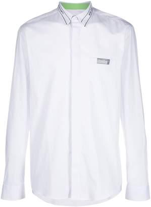 Frankie Morello zip detail shirt