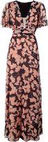 BCBGMAXAZRIA Anaelle Kimono Floral-print Silk Maxi Dress