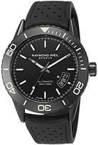 Raymond Weil Men's 'Freelancer' Swiss Automatic Stainless Steel and Rubber Casual Watch