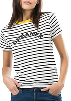 Sugarhill Boutique Mimi Dreamer T-Shirt, White/Black
