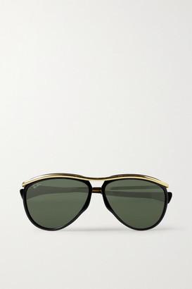 Ray-Ban Olympian Aviator Acetate And Gold-tone Sunglasses - Black