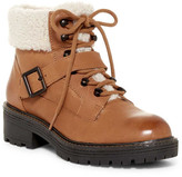 Kelsi Dagger Brooklyn Monroe Genuine Shearling Detail Lace-Up Boot