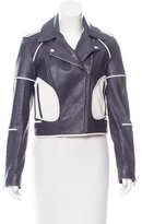 Diane von Furstenberg Kenzie Leather Biker Jacket