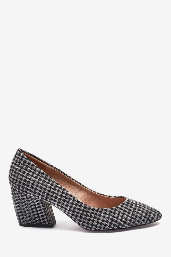 f54e1ad8da9 Womens Check Banana Heeled Court Shoes - Grey