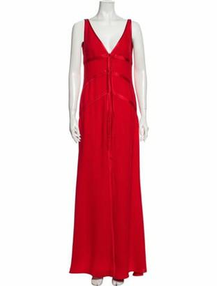 Valentino Vintage Long Dress Red