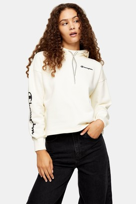 Champion Womens Ecru Fleece Hoodie By Ecru