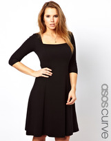 Asos Exclusive Jersey Midi Dress with 3/4 Sleeves.