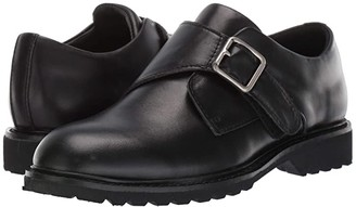 Kenneth Cole Reaction Wing Monk (Little Kid/Big Kid) (Black Leather) Boy's Shoes