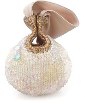 Bea Yuk Mui Valdes Bella Lily Crystal Ball Clutch Bag