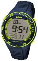 Limit Unisex Navy Digital Silicone Strap Watch