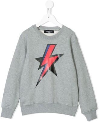 Neil Barrett Kids Lightning Sweatshirt