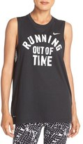 Nike Women's Running Out Of Time Muscle Tank