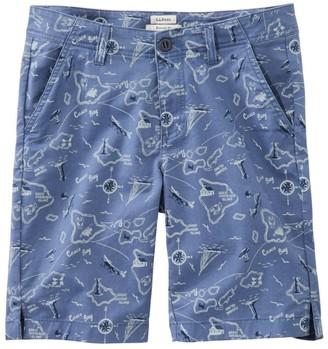 L.L. Bean Women's Lakewashed Chino Shorts, Bermuda Print