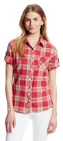 Dickies Women's Roll-Up Sleeve Plaid Shirt
