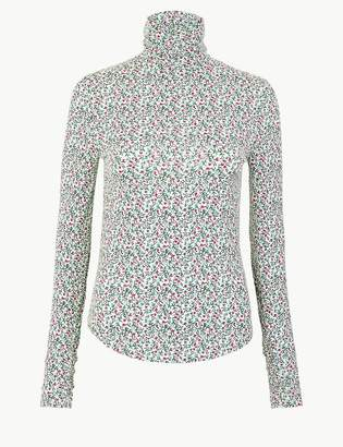 Per UnaMarks and Spencer Floral Roll Neck Top