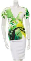 Roberto Cavalli Printed Short Sleeve Top