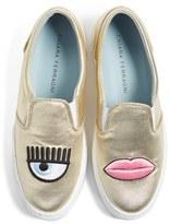 Chiara Ferragni Women's Flirting Lips Slip-On Sneaker