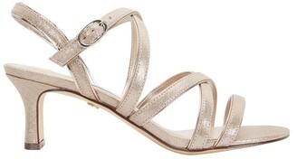 Nina Genaya Taupe Reflective Suede Sandal