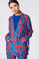 NA-KD Na Kd Tied Sleeve Printed Blazer