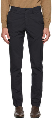 Dunhill Navy Poplin Chino Trousers