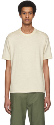 Junya Watanabe Off-White Cotton Jersey T-Shirt