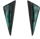 Alexis Bittar Angled Pyramid Button Clip Earring