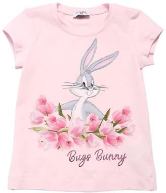 MonnaLisa Bugs Bunny Printed Cotton Jersey T-shirt