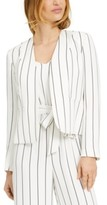 Bar III Open-Front Striped Jacket, Created for Macy's