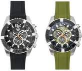 Mercedes Benz Men's Rugged Oversized Chronograph Watch Black or Green (green)