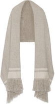 Isabel Marant Fringed Striped Cashmere Scarf - Gray