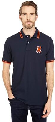 Psycho Bunny Burlington Polo (Navy) Men's Clothing