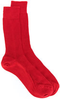 No.21 ribbed socks - women - Silk - S