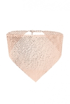 Quiz Rose Gold Chain Mail Choker