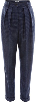 J.W.Anderson houndstooth carrot trousers