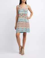 Charlotte Russe Strappy Boho Print Shift Dress