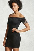 Forever 21 FOREVER 21+ Off-the-Shoulder Lace Dress