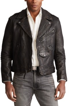 Polo Ralph Lauren Men's Leather Biker Jacket