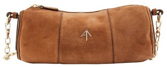 Atelier Manu Cylinder shoulder bag in suede