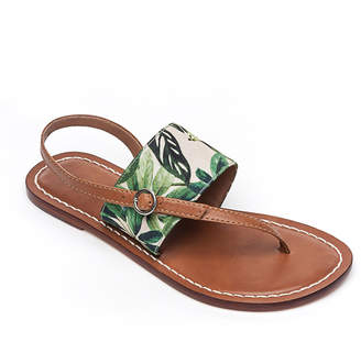 Bernardo Meg Leather Flat Sandals, Palm
