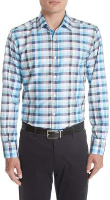 Canali Regular Fit Check Sport Shirt