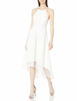 Jenny Yoo Women's Penelope Cross Back High-Low Lace Dress