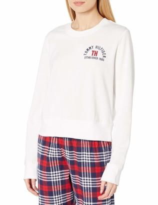 Tommy Hilfiger Women's Logo Tee Sweathshirt Pajama Top