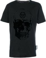 Philipp Plein flocked skull T-shirt